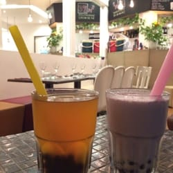 Bubble tea tarot et fruit de la passion