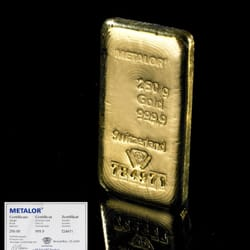 250g gold bars available at Bullion By Post
