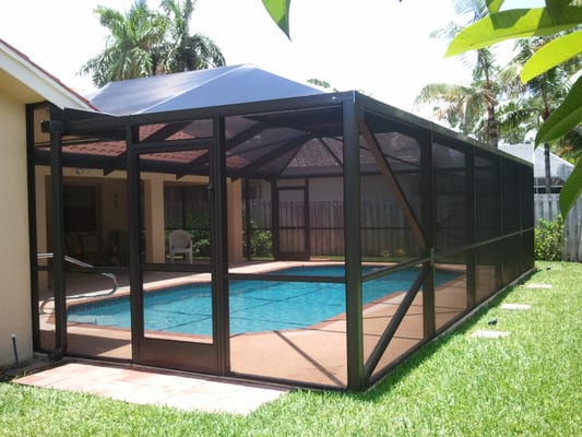 Adding a screened in pool enclosure over your pool or for Pool enclosure design software