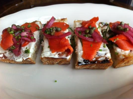 Smoked salmon bruschetta   Yelp