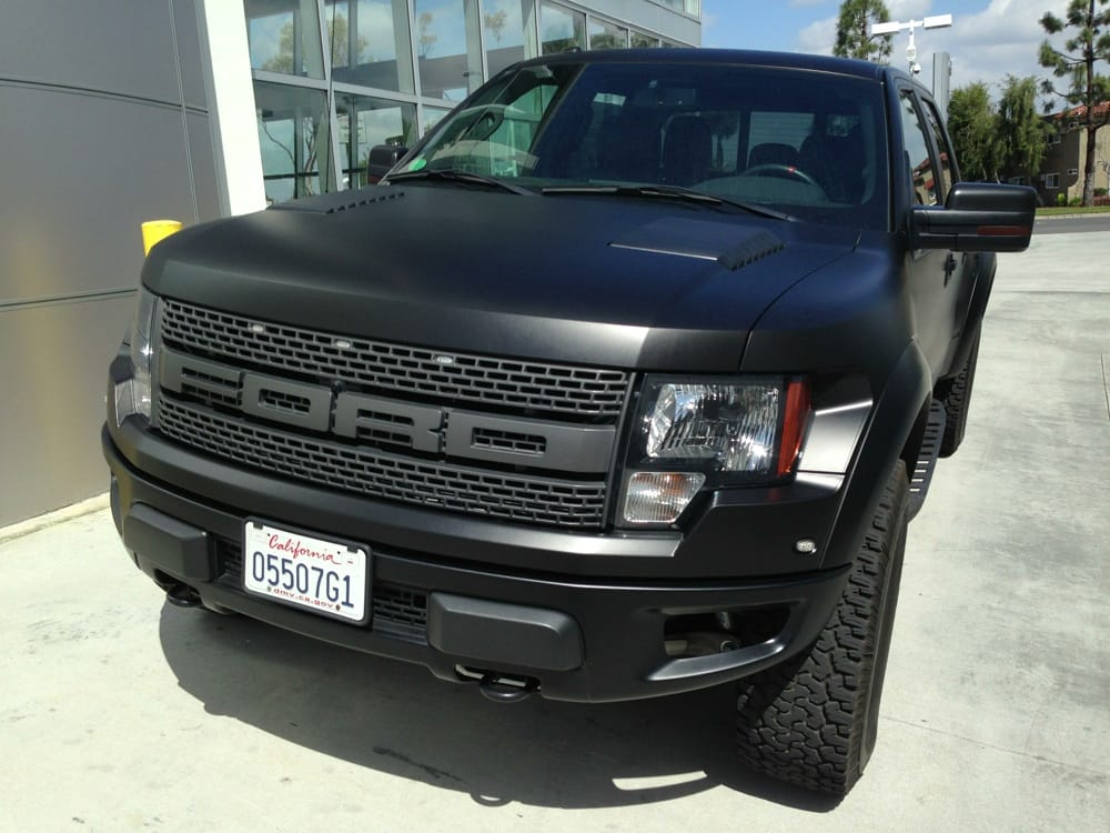 2012 Ford Raptor Matte Black Vinyl Wrap | Yelp