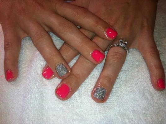 Hot pink gel manicure | Yelp