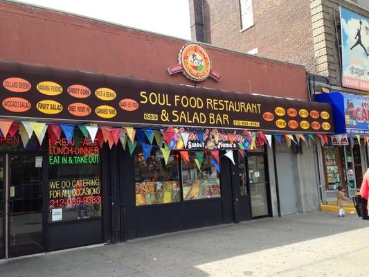 Sweet mama s soul food restaurant salad bar harlem for Harlem food bar yelp