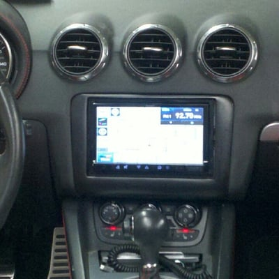 Audi Tt With Hand Made Double Din Dash Kit For Navigation