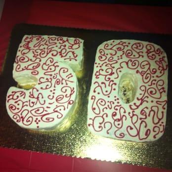 My dad's 50th birthday cakes. 5=chocolate sheet w/cookie & cream ...