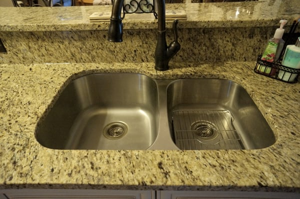 ... New Venetian Gold Granite Countertops; Undermount Kitchen Sink Yelp