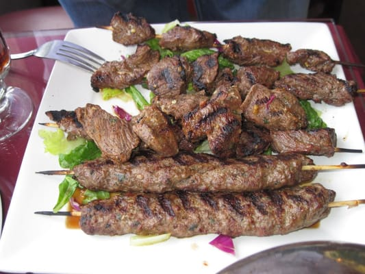 Beef Kabob, Kofta Kabob, Lamb Kabob. Photo by http://travelingtaste ...
