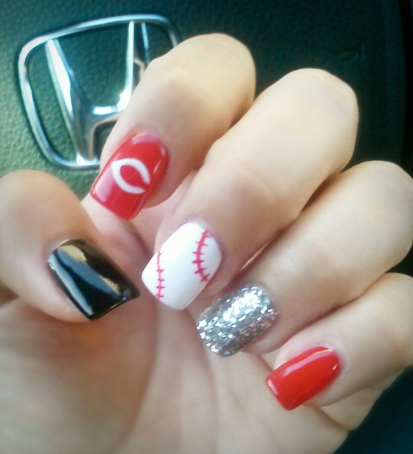 Nail Design Baseball - Nail Design Baseball - Nail Arts