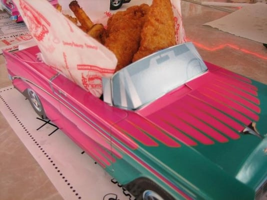 Kids Meal Served In Cardboard Car Yelp