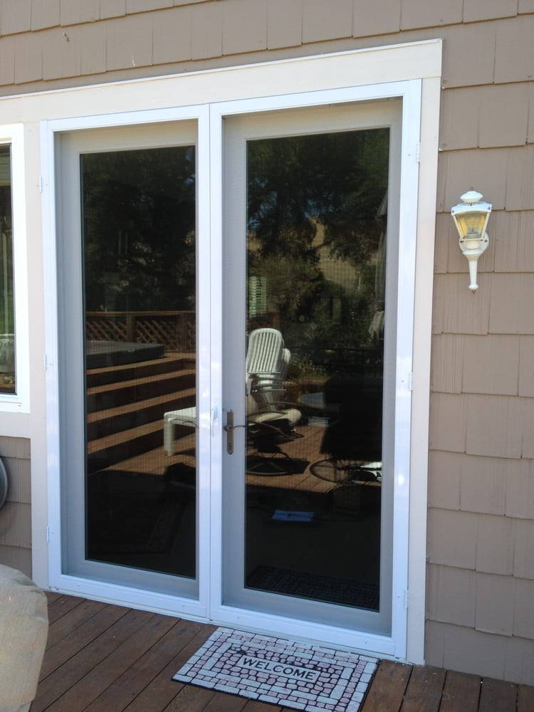 Double vista swinging screen door yelp for Double door screen door