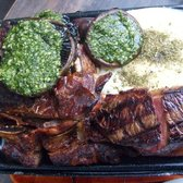 parillada mixed grill. for two hungry kings of the jungle