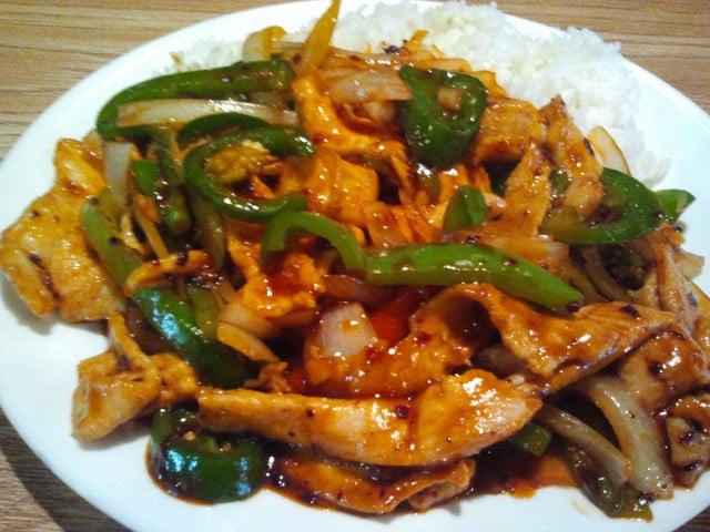 Hot pepper chicken lotus leaf columbus ohio chinese food for Asian cuisine columbus ohio