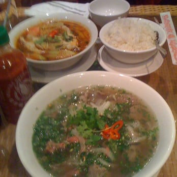 Mekong catfish spicy soup and a huge Pho Dac Biet