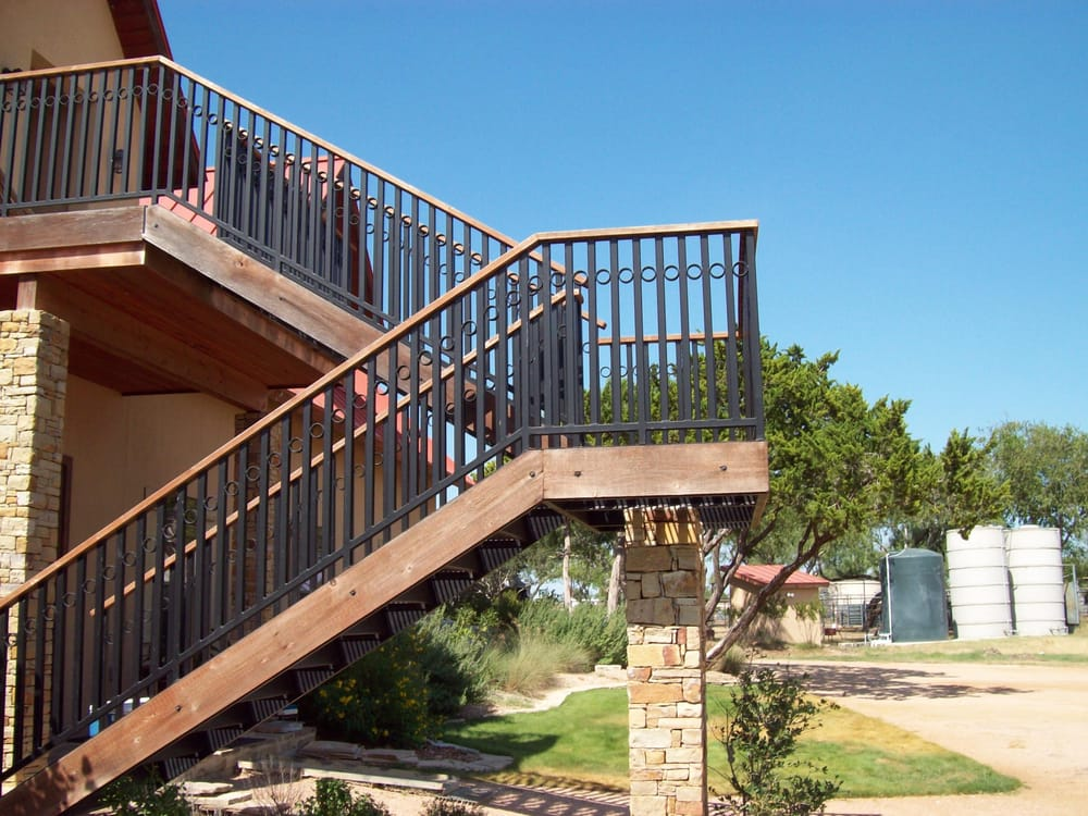 residential wrought iron wood staircase railings yelp
