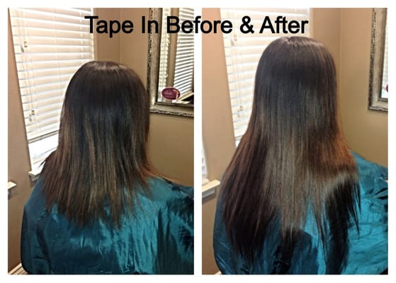 Tape Hair Extensions Before And After Tape In Hair