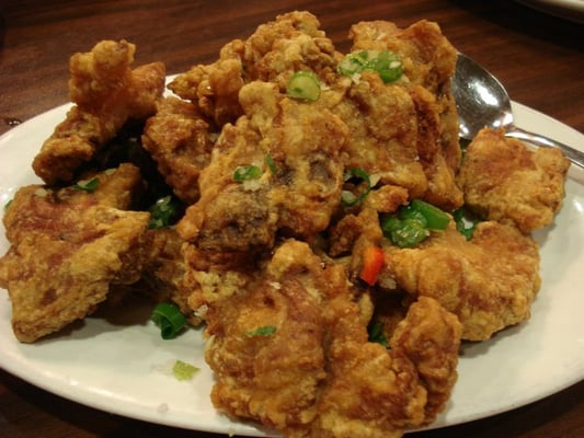 ... fried pork with cincaluk recipe heh ya kay char bak salt fried pork