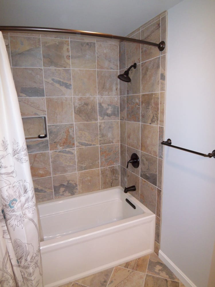 Tiled tub surround yelp for Tile shower surround
