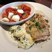 Color photo with tgi parmesan steak