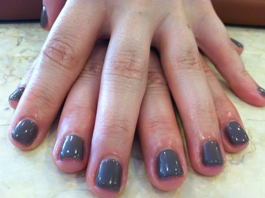 Shellac gel manicure in Rubble Color by Vi | Yelp
