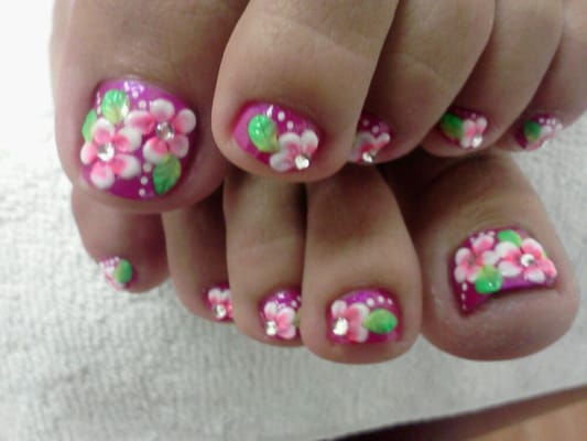 - Nail salons close by ...