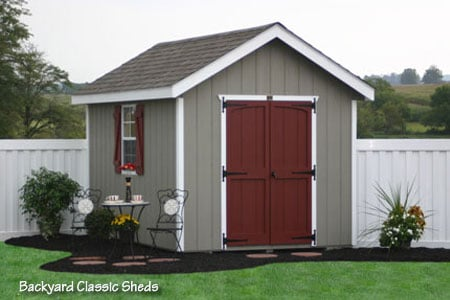 8x12 classic workshop storage shed from sheds unlimited in for Storage sheds for sale near me