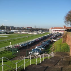 A view of Chester Racecourse from the Walls.