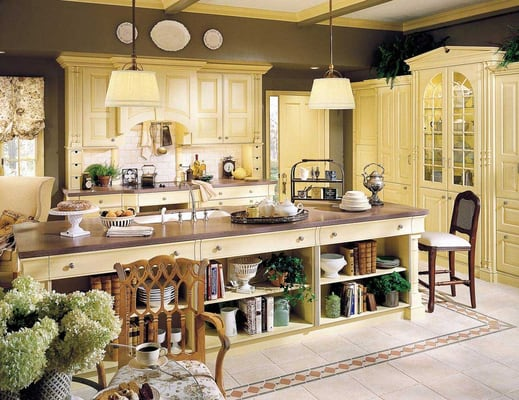 Wood mode english country cabinets yelp for English country kitchen designs