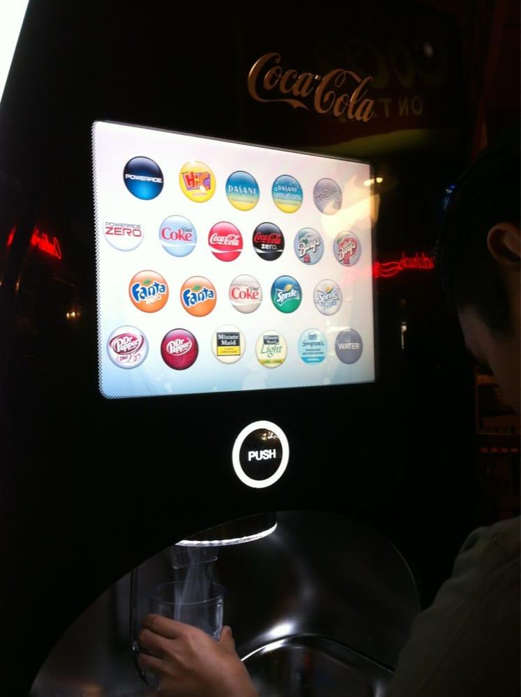 100 flavors coke machine