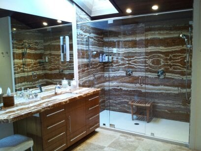 Onyx Shower Walls Amp Countertops Solid Surface Shower