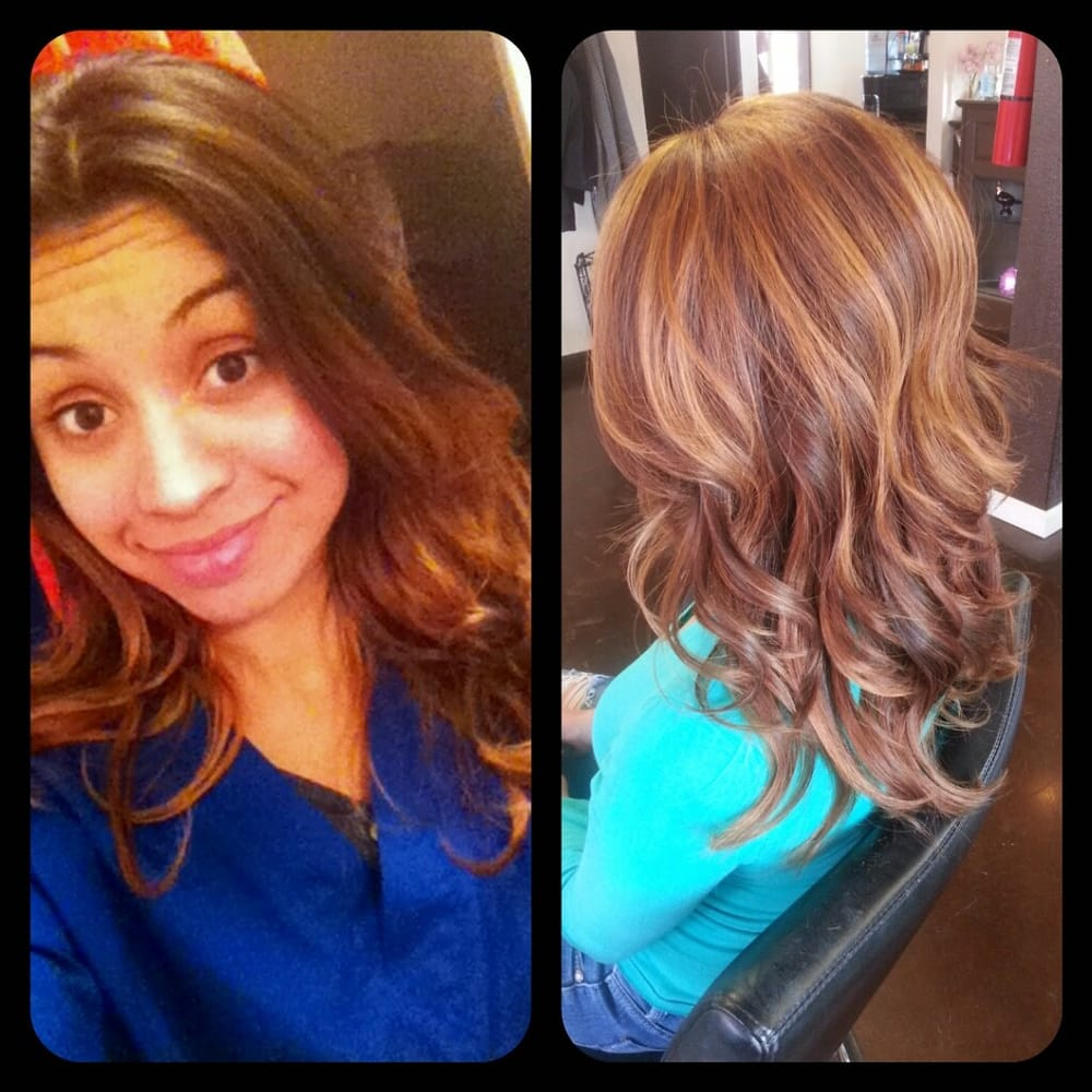 Before And After Balayage Caramel Highlights And Base Color Correction  Yelp