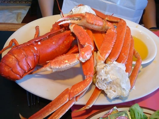 message steamed lobster and crab legs the original crab shanty ...