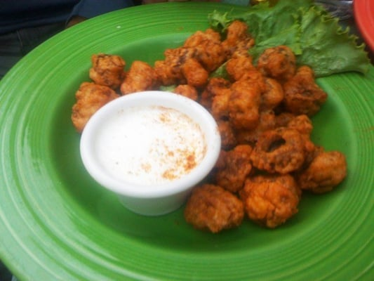 fried mushrooms with ranch dressing