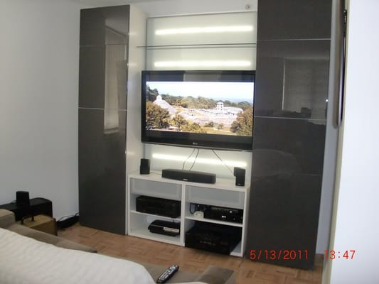 An Entertainment Center From Ikea That Drill Assembled For