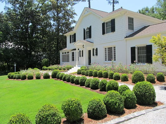 Landscaping With Boxwoods And Roses : Formal boxwood and rose garden in buckhead atlanta yelp