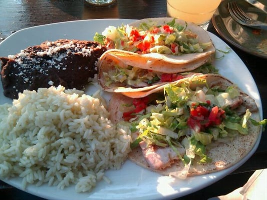 mahi mahi tacos, 1 fried oyster taco, so good. | Yelp