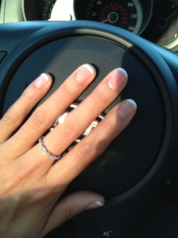 So happy with my French tip gel manicure | Yelp