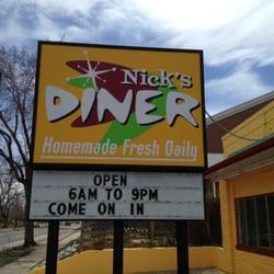 Nick's Diner logo