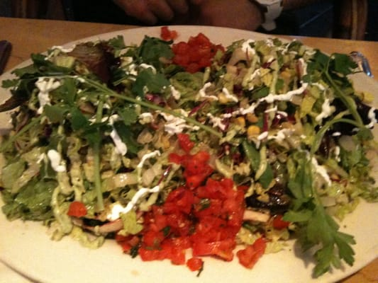 The chicken tostada salad.. Enormous! | Yelp