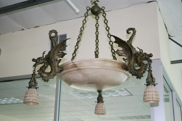 Custom Dragon Chandelier