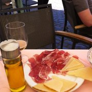 Beer, Jamon and Manchego perfect!
