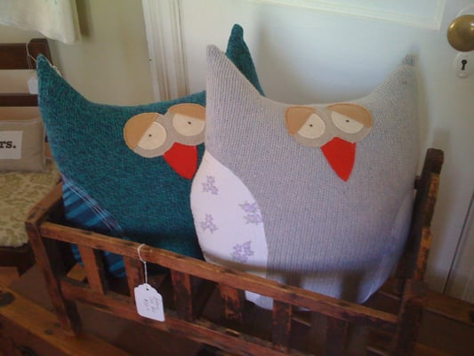 Owl Pillows Made From Recycled Sweaters Too Cute Yelp