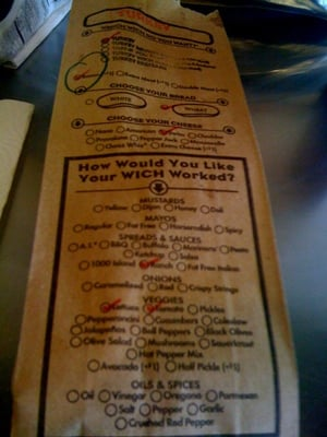 Which Wich Ordering Bag
