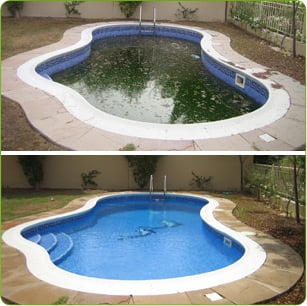 Before and after pool cleaning yelp - How to clean a dirty swimming pool ...