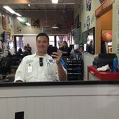 Getting my hair cut