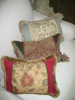 Custom decorative pillows bu Sofa interiors | Yelp