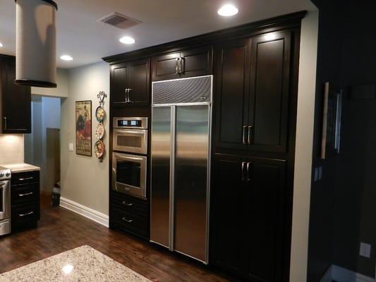 Espresso cabinets is a dark kitchen cabinet, but very elegant  Yelp