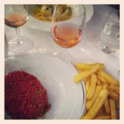 Beef tartare with chips!