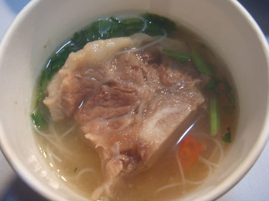 Thai Style Oxtail Soup with Bihon Noodles, Cilantro, and Hawaiian ...