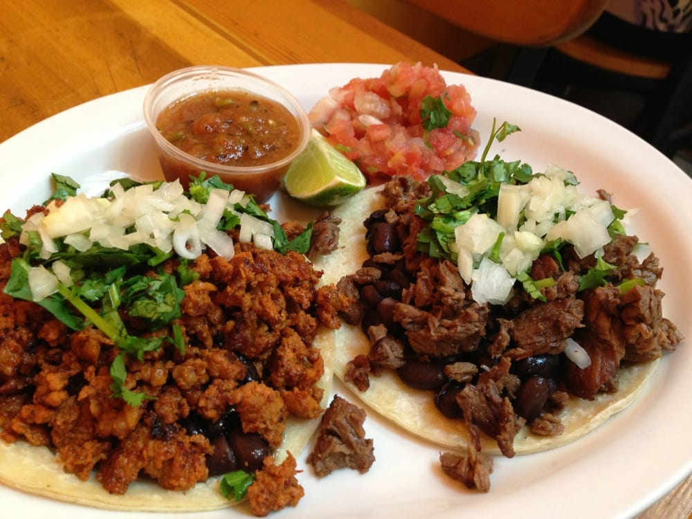 Mexican sausage taco (left) and Carne Asada taco (right) | Yelp