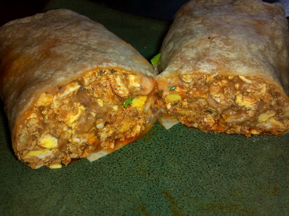 Chorizo and egg burrito | Yelp